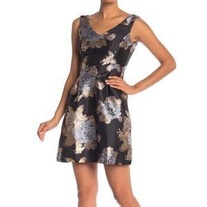 NWT Nordstrom Black Brocade Holiday Cocktail Dress